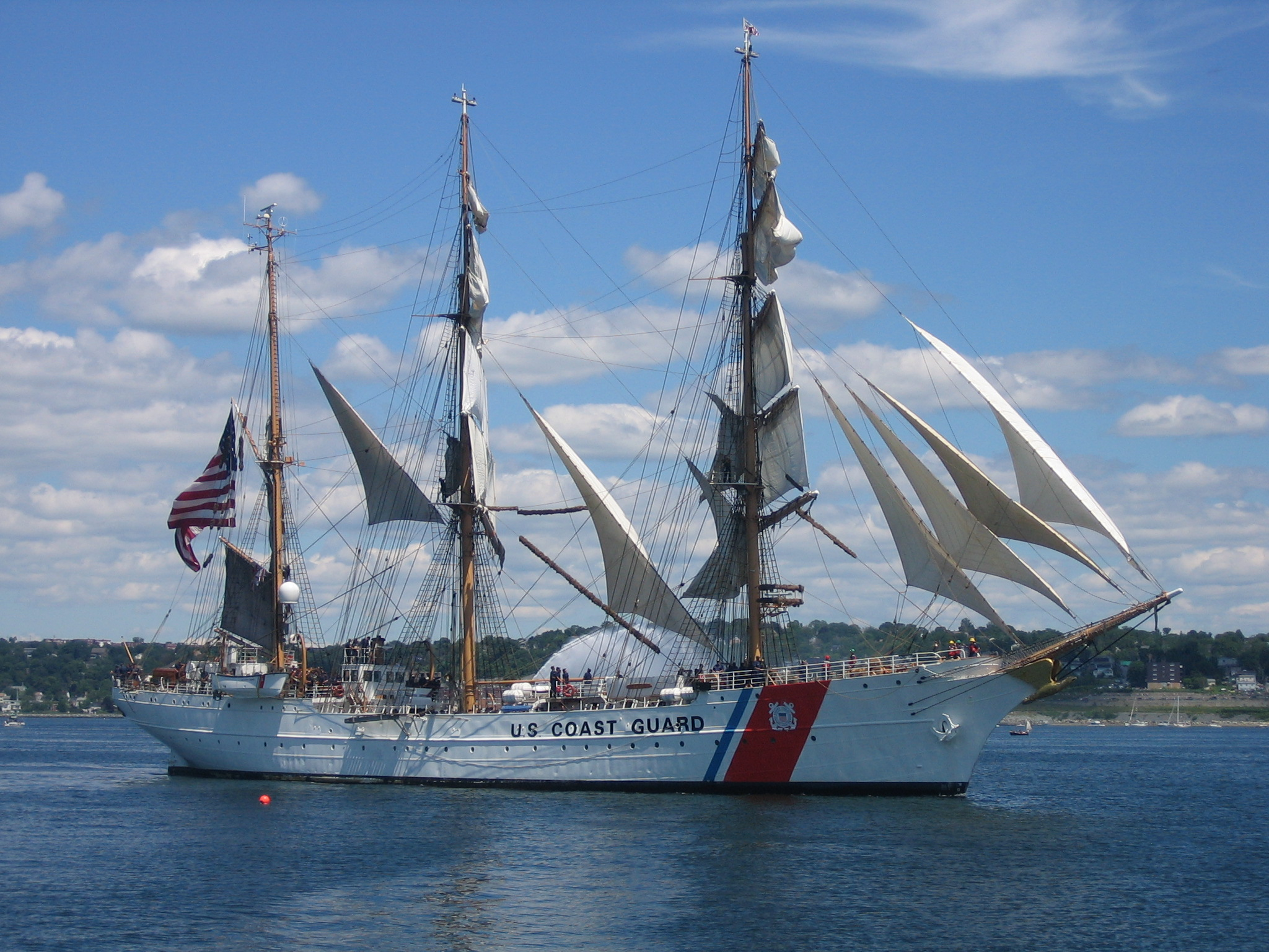 Wholesale Wooden United States Coast Guard Uscg Eagle Model Ship
